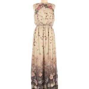 Chelsea & Violet Floral Maxi Dress M EUC